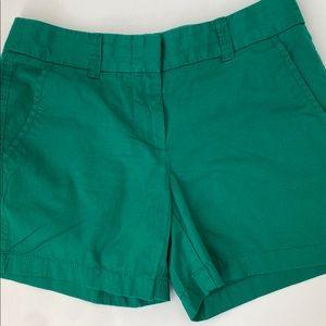 J Crew Green Shorts Size 00